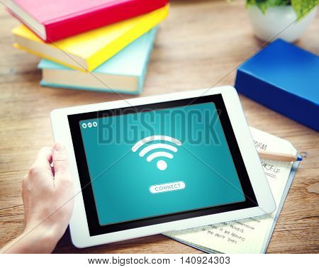 Wifi Network Connect Graphic Concept