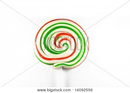 Traditional handmade lollipop isolated on white background