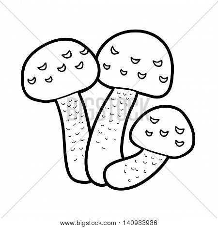 Coloring Book. Inedible Mushrooms, Hypholoma Fasciculare