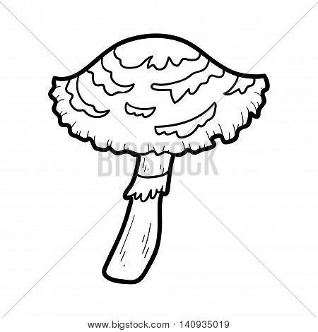 Coloring Book. Inedible Mushrooms, Lepiota Cristata