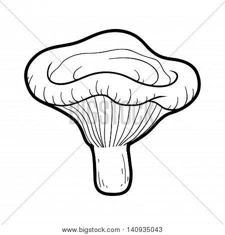 Coloring Book. Inedible Mushrooms, Paxillus Involutus