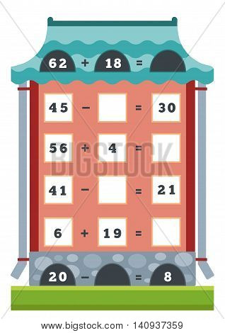 Counting Educational Game For Children. Tasks For Multiplication And Division