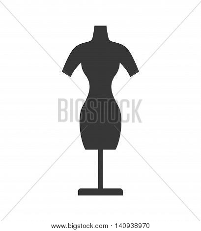 Manikin tailor sewing shop icon. Isolated and flat illustration. Vector graphic