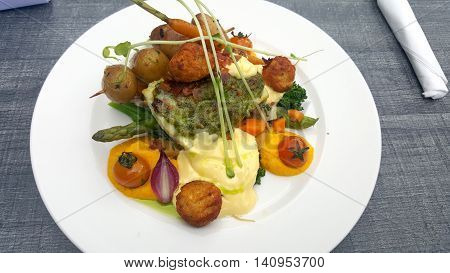 Bacalao with Vegetables, dish Norwegian fine cousine