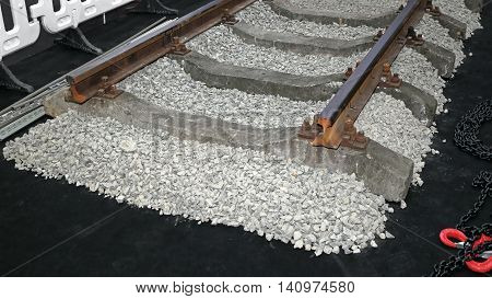 Concrete Railway Sleepers With Track Ballast Construction