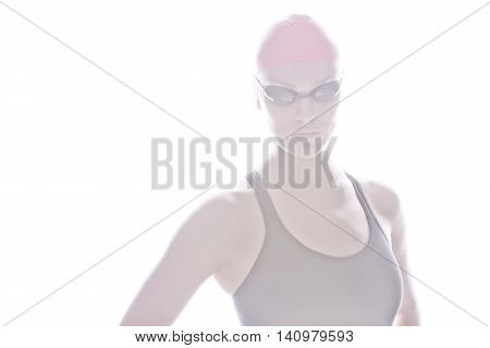 High Key Image Of Swimmer