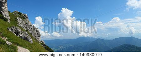 Mountain panorama from slovak High Fatra national park.