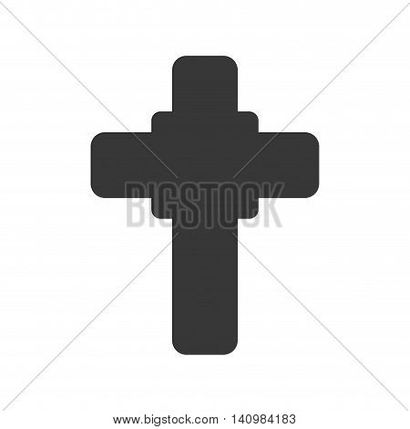 cross shape god belief religion icon. Isolated and flat illustration. Vector graphic