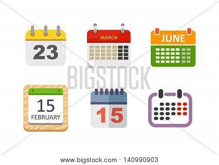 Calendar icon vector isolated, calendar icon graphic reminder element message symbol. Calendar icon message template shape office calendar icon appointment. Binder schedule calendar icon. poster