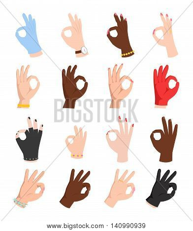 Ok hands success gesture and okay hands yes agreement. Okay hands signal business human agree. Best approval accept. Silhouette of hands showing symbol of all ok