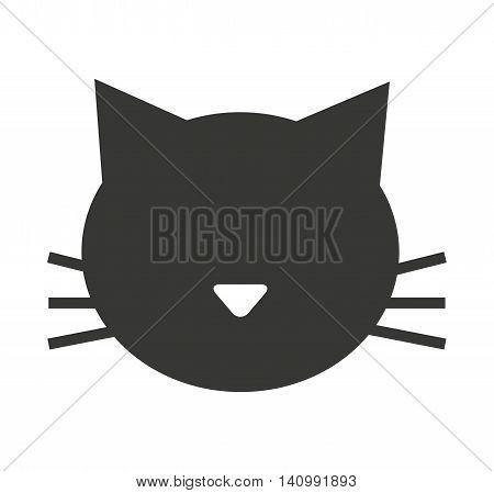 cat mascot pet silhouette icon vector illustration icon