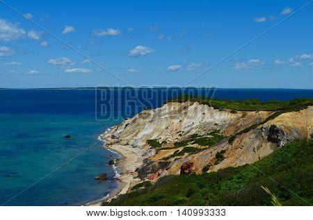Aquinnah Cliff (Gay Head) on a summer day - Martha's Vineyard