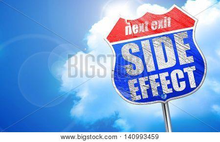 side effect, 3D rendering, blue street sign