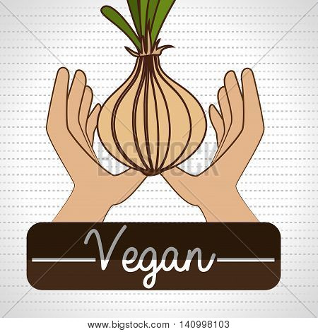 hand food vegan vegetables vector illsutration graphic