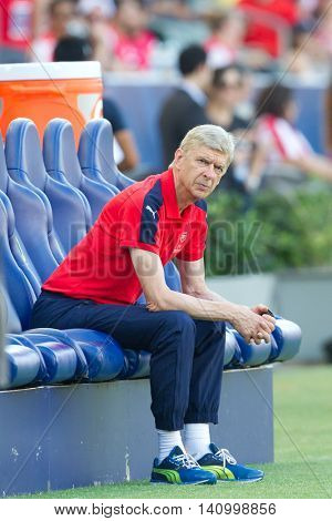 CARSON, CA - JULY 31: Arsenal manager Arsene Wenger during the friendly soccer game between Chivas Guadalajara and Arsenal at the StubHub Center.