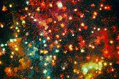 Cheerful firework poster