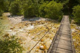 Soca / Isonzo river near Bovec town, Slovenia