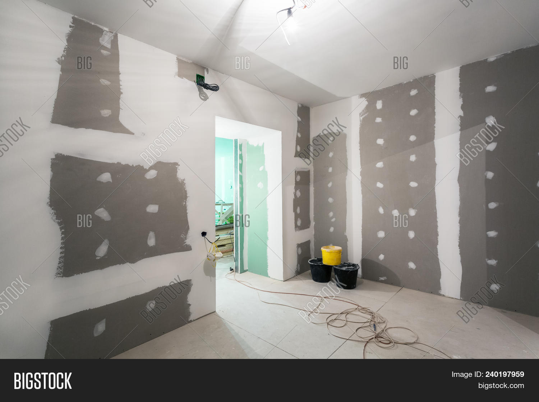 Metal Frames Plasterboard -drywall Image & Photo   Bigstock