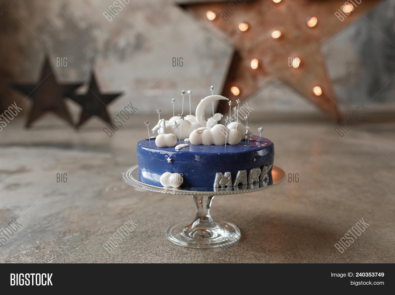 Gourmet Blue Birthday Image Photo Free Trial Bigstock