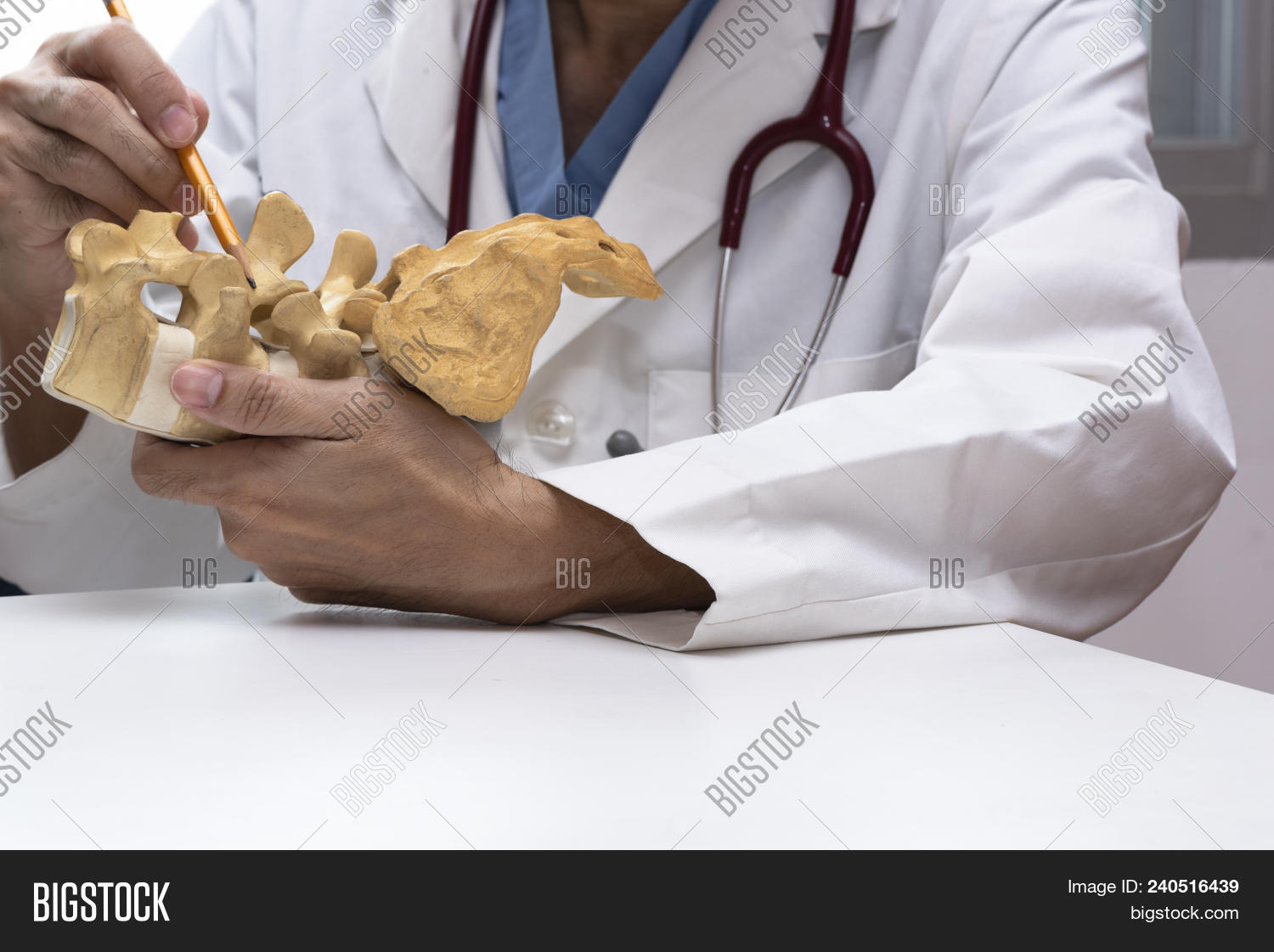 Doctor Using Pencil Image Photo Free Trial Bigstock