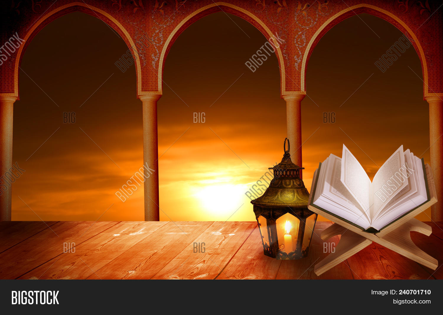 Islamic Greeting Cards Image Photo Free Trial Bigstock