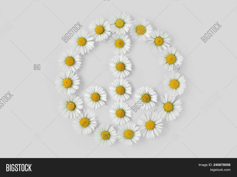 Peace Symbol Made Image Photo Free Trial Bigstock