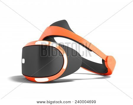 Modern Glasses Of Vertuality Of Reality For Consoles And Consoles And Watching Movies Red With Black