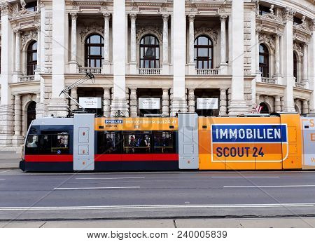 Vienna, Austria - December 16, 2017: Historic Burgtheater (imperial Court Theatre), Austrian Nationa