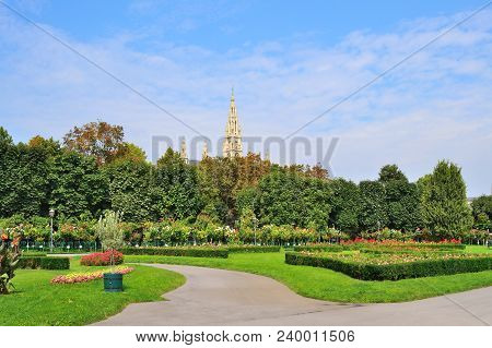Austria. The Folksgarten Park In Vienna In A Sunny Summer Day