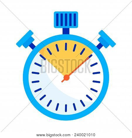 Color Stopwatch Icon. Control And Time Management, The Result Of The Athlete In The Competition. A S