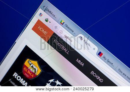 Ryazan, Russia - May 08, 2018: Ripple Website On The Display Of Pc, Url - Ripple.is