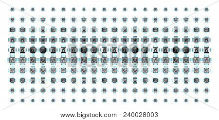 Cpu Circuit Icon Halftone Pattern, Designed For Backgrounds, Covers, Templates And Abstraction Effec