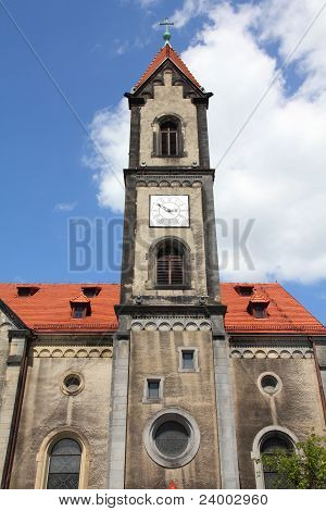 Tarnowskie Gory Silesia region in Poland. Evangelical church. poster