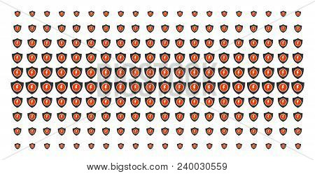 Electric Guard Icon Halftone Pattern, Constructed For Backgrounds, Covers, Templates And Abstract Ef