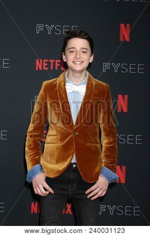 LOS ANGELES - MAY 6:  Noah Schnapp at the Netflix FYSEE Kick-Off Event at Raleigh Studios on May 6, 2018 in Los Angeles, CA