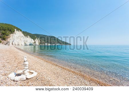 Vignanotica, Apulia, Italy - Traditional Rock Formations At The Beach Of Vignanotica