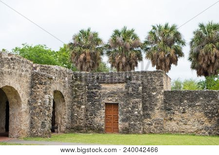 Very Old Mission Concepcion Or Conception In San Antonio Texas.