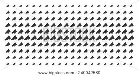 Megaphone Icon Halftone Pattern, Designed For Backgrounds, Covers, Templates And Abstraction Concept