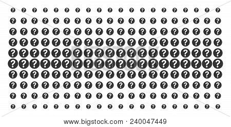 Query Icon Halftone Pattern, Constructed For Backgrounds, Covers, Templates And Abstraction Concepts