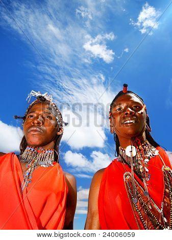 Portrait Of Masai Mara Male Warriors