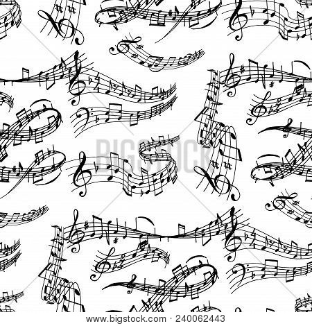 Notes Music Melody Colorfull Musician Symbols Sound Melody Text Writting Audio Symphony. Music Sign
