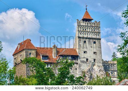 Medieval Castle In Bran Transylvania Romania Dracula Lived There
