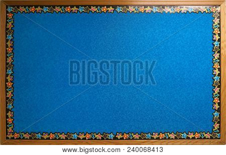 Decorated Bulletin Board Isolated On White Background