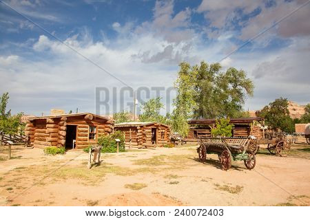 Historial outpost of the Wild West Pioneers on the border between Arizona and Utah