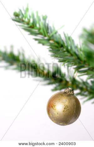 Gold Christmas Ball Hanging