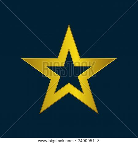 Gold Star Icon Vector Vector Photo Free Trial Bigstock