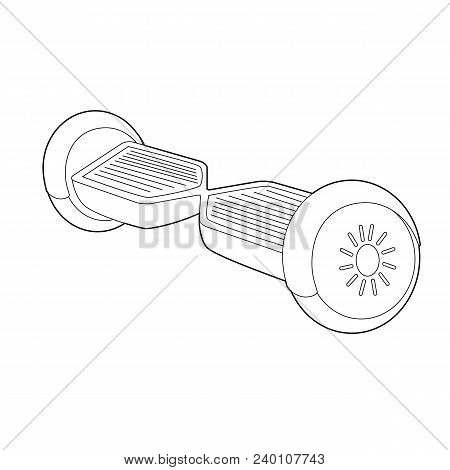 Gyroscooter Linear Icon. Thin Line Illustration. Hoverboard. Contour Symbol. Editable Stroke. Vector