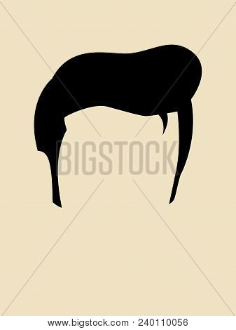 Simple Graphic Of A Hairstyle For Man