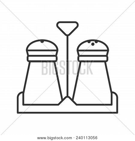 Salt And Pepper Shakers Linear Icon. Thin Line Illustration. Spice. Contour Symbol. Vector Isolated