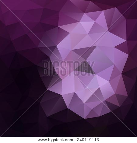 Polygonal Background In Eggplant Violet Shades With Touch Of White And Lavendar